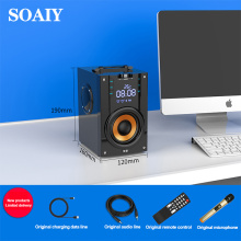 SOAIY Portable Bluetooth Speaker Larger power Column outdoor Loudspeakers Subwoofer computer speaker of Music center with remote