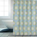 Shower Curtain PEVA  Green Hexagon