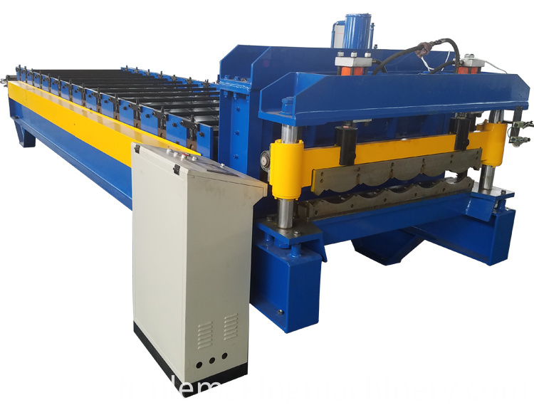 glazed metal tile forming machine
