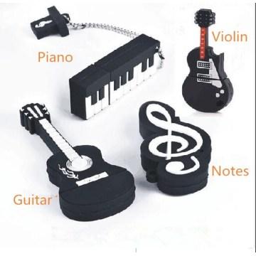 Notes usb flash drive 64g piano usb flash drive 32g lettering usb flash drive 16g violin logo 8g cartoon U disk free shipping