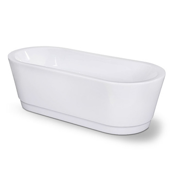 Designer Oval Soaking Pedestal Freestanding Bathtub
