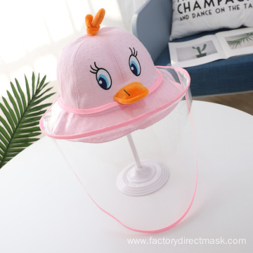 Pink Duck Anti-droplet Hat for Children