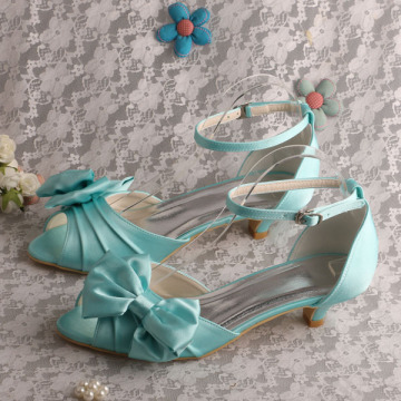 Purple Satin Evening Wear Sandals Low Heeled