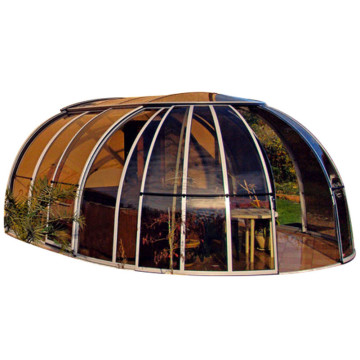 Sun House Polycarbonate Sunroom With Retractable Roofing
