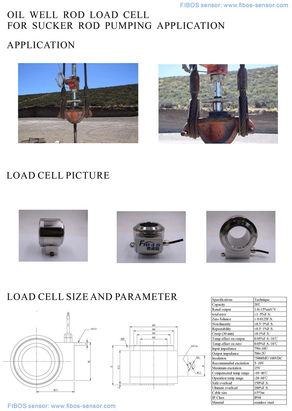 oil well rod load cell_C