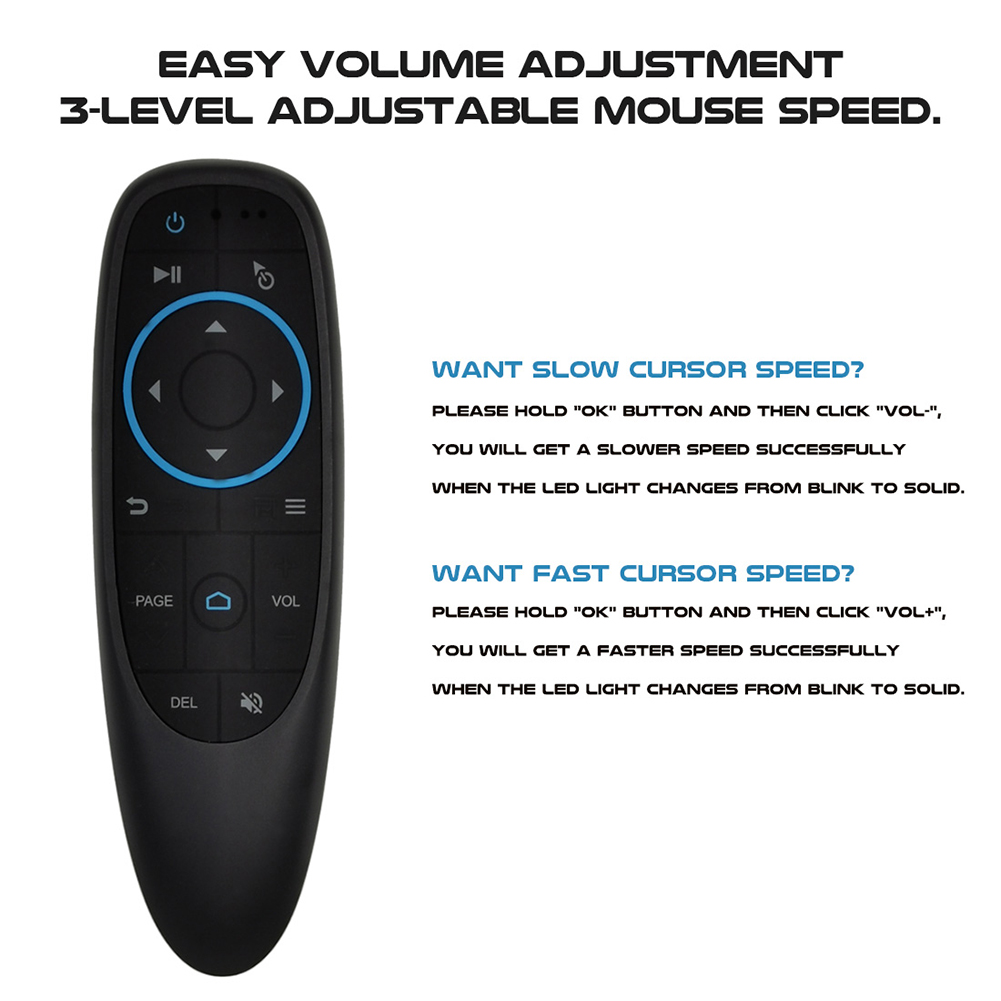 Bluetooth 5.0 Air Mouse 6-Axis Gyroscope 17 Keys Smart Remote Controller for Projector Computer PC TV BOX for Xiaomi Smart TV