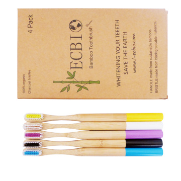 100% Biodegradable Eco-friendly Travel  Bamboo Toothbrush