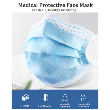 disposable 3 ply surgical medical surgical mask