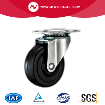 Plate Swivel Black Rubber Light Duty Industrial Casters