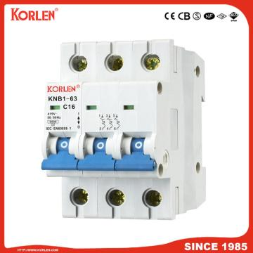 Miniature Circuit Breaker 4.5KA 63A 2P with CB
