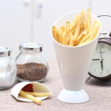 Snack Cone Stand + Remove Dip Holder for Fries Chips Finger Food Home Restaurant