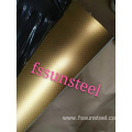 304 stainless steel embossed sheets Linen Gold