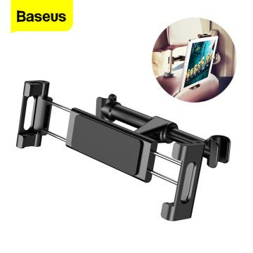 Baseus Car Back Seat Headrest Mount Holder For iPhone X Samsung iPad 360 Degree Bracket Car Backseat Tablet Mobile Phone Holder