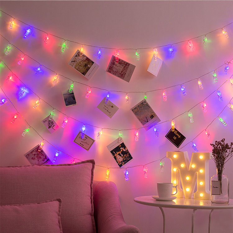 picture clips string lights