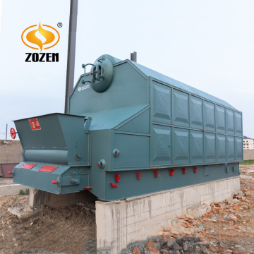 6t/h Chain Grate Stoker Wood Chips Steam Boiler