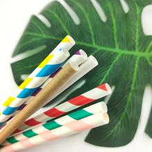 24pcs/pack Foil Stripe Paper Straws Disposable Drinking Straws Biodegradable Paper Straws Bar Cocktail Drink Tool EOC Single Use