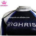 Custom Navy Blue Cheerleading Uniform