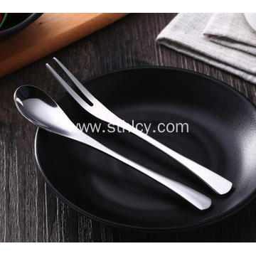 Stainless Steel Flatware Set for Fruit and Coffee