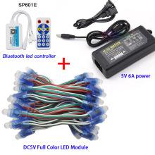 led power Supply Charger Adapter DC5V 50 Pcs WS2811 IC RGB Pixel LED Module Light Full Color IP67 ,Wifi LED SPI Controller,5V 6A