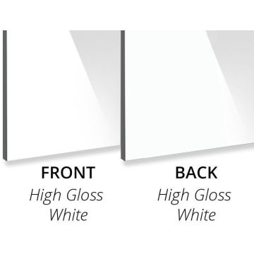 Glossy White Aluminium Composite Panel