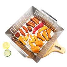 Heavy Duty Stainless Steel Grill Vegetable Basket
