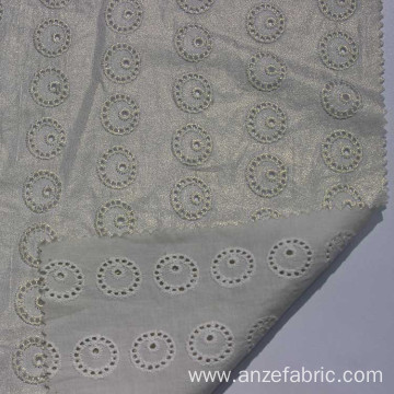 100% Cotton Embroidery eyelot chemical Lace Fabric