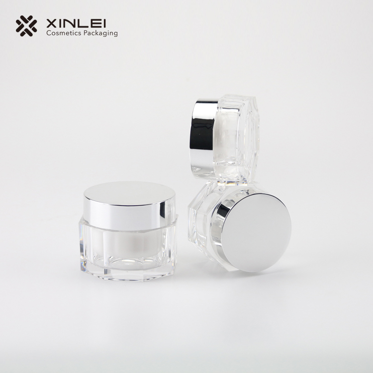Octangle Shape Cosmetics Acrylic Jar