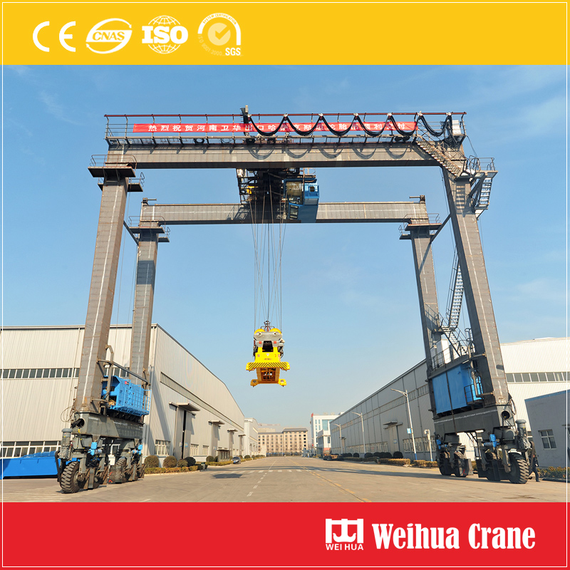 Rubber Tire Gantry Crane Running Test
