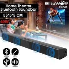 Portable Bluetooth Soundbar Speaker Wireless Sound Bar Speakers with 3 Connection Methods Home Theater Systems for TV PC
