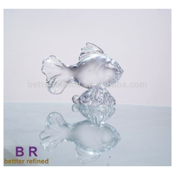 Glass Fish Shaped  Decoration