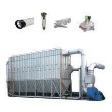 Dry batch concrete plant dust collector