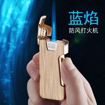Flip Side Side Press Ignition Butane Gas Lighter Inflatable Torch Turbo fire starter Personality Windproof Cigar Lighter Metal