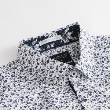 Men's Sexy Floral Long Sleeve Shirt