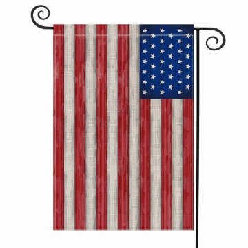 Custom design USA polyester cloth garden yerd flag