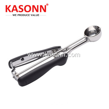 Stainless Steel Ice Cream Scoop with Anti-slip Handle