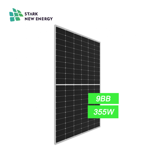 High Performance 355W9BB Mono Solar Panel On Roofing