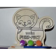 paint your own wooden set cat