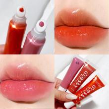 1pc Glossy Lip Plumping Liquid Lip Gloss Moisturizing Lip Gloss Gloss Plump Makeup Nutrition Liquid Lipstick Non-Sticky TSLM1