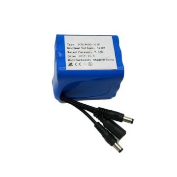 18650 3S3P 11.1V 7500mAh Lithium Ion Battery Pack