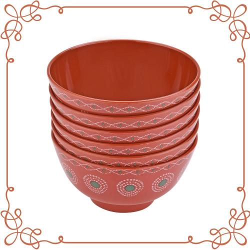 "6"" Melamine Deep Bowl Set of 6"