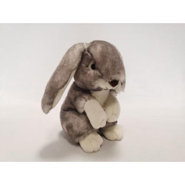 Grey Plush Rabbit super soft