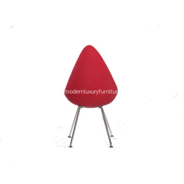 Small Comfy Red Drop Chair
