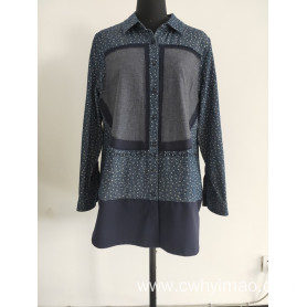 lady cut out navy middle blouse