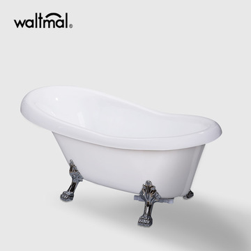 Acrylic Clawfoot Bathtub in White