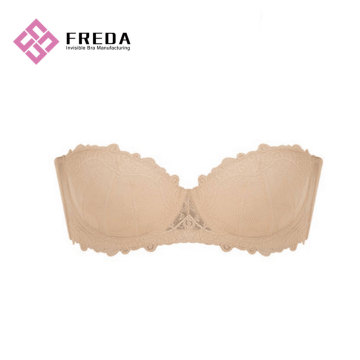 Lace One Piece Strapless Bra With Back