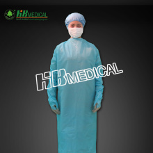 disposable blue PE Gown