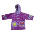the environmental and bright colors of PU raincoat for kids