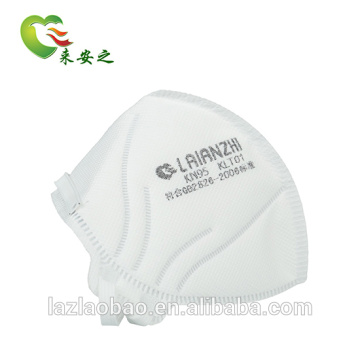 KN95 Disposable Foldable Valveless Moulded Facial Respirator