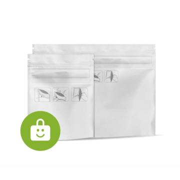 Food packaging bag with seal