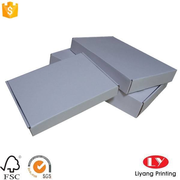 Custom corrugated cardboard box white (1)